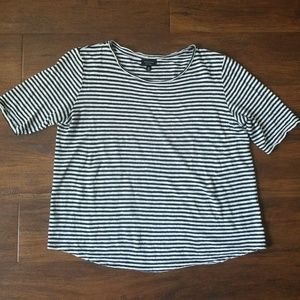 Who What Wear striped linen tee, Medium